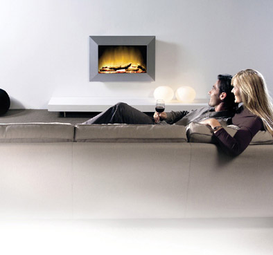 wand silver feeling elektrokamin elektrische wandkamine aus metall. Black Bedroom Furniture Sets. Home Design Ideas